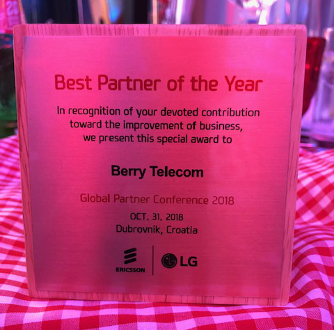 Berry wins Ericsson-LG Best Partner of the Year 2018